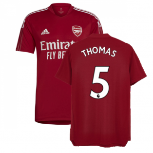 Arsenal 2021-2022 Training Shirt (Active Maroon) (Thomas 5)