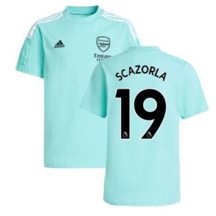 Arsenal 2021-2022 Training Tee (Acid Mint) (S CAZORLA 19)