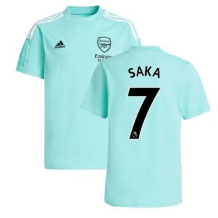 Arsenal 2021-2022 Training Tee (Acid Mint) (SAKA 7)