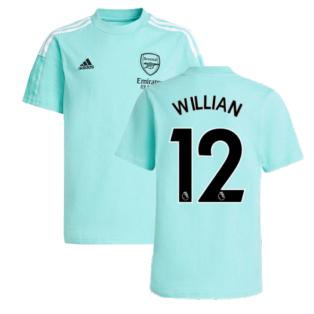 Arsenal 2021-2022 Training Tee (Acid Mint) (WILLIAN 12)