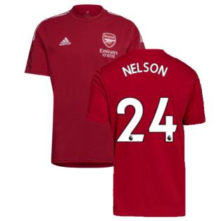 Arsenal 2021-2022 Training Tee (Active Maroon) (NELSON 24)