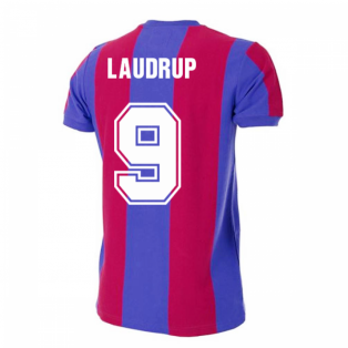 Barcelona 1976-1977 Retro Football Shirt (LAUDRUP 9)