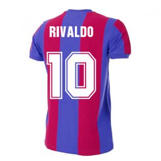 Barcelona 1976-1977 Retro Football Shirt (RIVALDO 10)