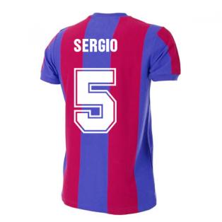 Barcelona 1976-1977 Retro Football Shirt (SERGIO 5)