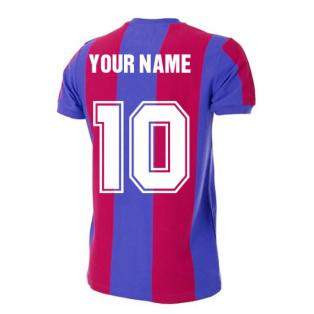Barcelona 1976-1977 Retro Football Shirt (Your Name)