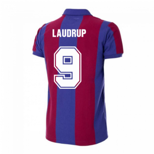 Barcelona 1980-1981 Retro Football Shirt (LAUDRUP 9)