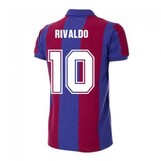 Barcelona 1980-1981 Retro Football Shirt (RIVALDO 10)