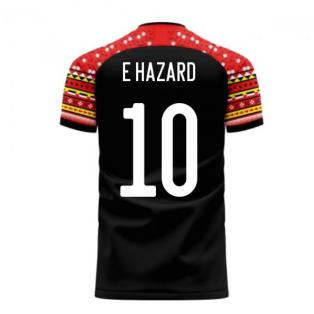 Belgium 2020-2021 Away Concept Football Kit (Libero) (E HAZARD 10)