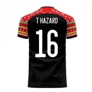 Belgium 2020-2021 Away Concept Football Kit (Libero) (T HAZARD 16)