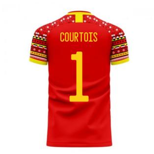 Belgium 2020-2021 Home Concept Football Kit (Libero) (COURTOIS 1)