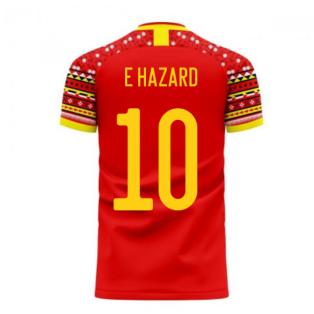 Belgium 2020-2021 Home Concept Football Kit (Libero) (E HAZARD 10)