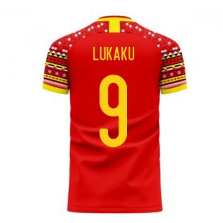 Belgium 2020-2021 Home Concept Football Kit (Libero) (LUKAKU 9)