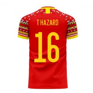 Belgium 2020-2021 Home Concept Football Kit (Libero) (T HAZARD 16)