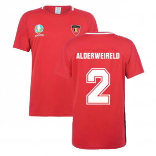 Belgium 2021 Polyester T-Shirt (Red) (ALDERWEIRELD 2)