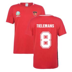 Belgium 2021 Polyester T-Shirt (Red) (TIELEMANS 8)