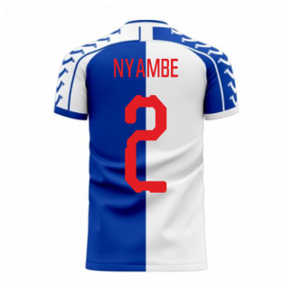 Blackburn 2020-2021 Home Concept Football Kit (Viper) (Nyambe 2)