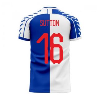Blackburn 2020-2021 Home Concept Football Kit (Viper) (Sutton 16)