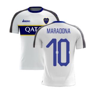 Boca Juniors 2020-2021 Away Concept Football Kit (Libero) (MARADONA 10)