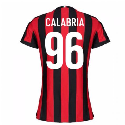 2017-2018 AC Milan Womens Home Shirt (Calabria 96)