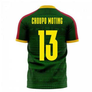 Cameroon 2020-2021 Home Concept Football Kit (Libero) (CHOUPO MOTING 13)