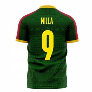 Cameroon 2020-2021 Home Concept Football Kit (Libero) (MILLA 9)