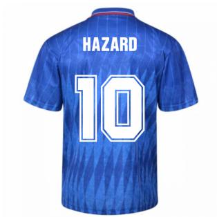 Chelsea 1990 Retro Football Shirt (HAZARD 10)