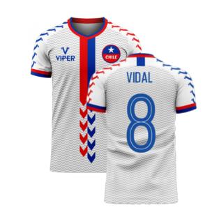 Chile 2020-2021 Away Concept Football Kit (Viper) (VIDAL 8)