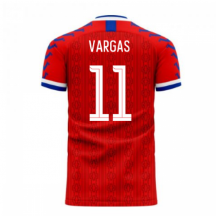 Chile 2020-2021 Home Concept Football Kit (Viper) (VARGAS 11)