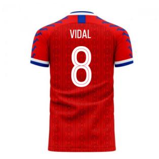 Chile 2020-2021 Home Concept Football Kit (Viper) (VIDAL 8)