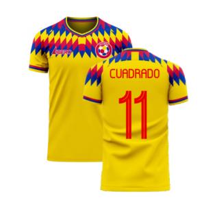 Colombia 2020-2021 Home Concept Football Kit (Libero) (CUADRADO 11)