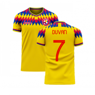 Colombia 2020-2021 Home Concept Football Kit (Libero) (DUVAN 7)