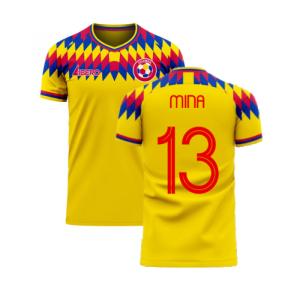 Colombia 2020-2021 Home Concept Football Kit (Libero) (MINA 13)