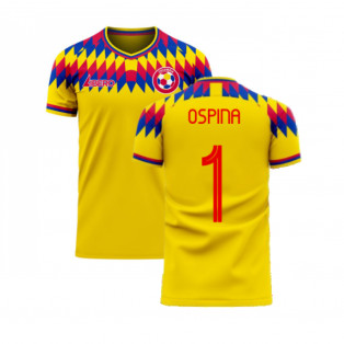 Colombia 2020-2021 Home Concept Football Kit (Libero) (OSPINA 1)