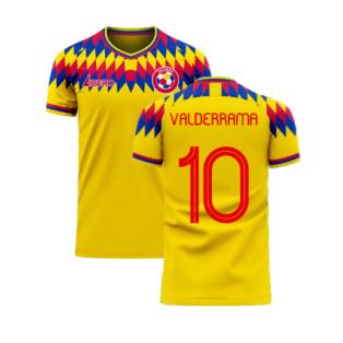 Colombia 2020-2021 Home Concept Football Kit (Libero) (VALDERRAMA 10)