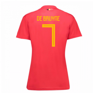2018-19 Belgium Home Womens Shirt (De Bruyne 7)