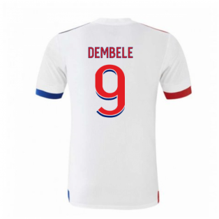 2020-2021 Olympique Lyon Adidas Home Football Shirt (DEMBELE 9)