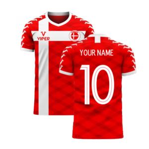 Denmark 2020-2021 Home Concept Football Kit (Viper)