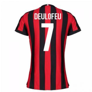 2017-2018 AC Milan Womens Home Shirt (Deulofeu 7)