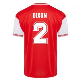 Score Draw Arsenal 1985 Centenary Retro Football Shirt (DIXON 2)