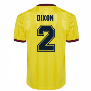 Score Draw Arsenal 1985 Centenary Away Shirt (DIXON 2)