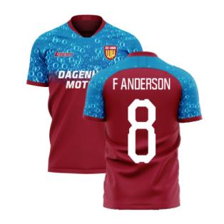East London 2020-2021 Home Concept Football Kit (Libero) (F ANDERSON 8)