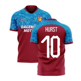 East London 2020-2021 Home Concept Football Kit (Libero) (HURST 10)