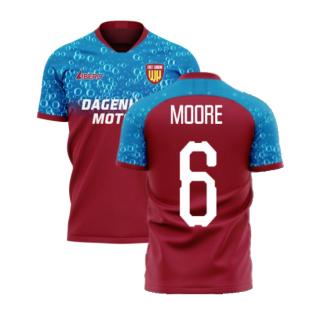 East London 2020-2021 Home Concept Football Kit (Libero) (MOORE 6)