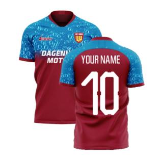 East London 2020-2021 Home Concept Football Kit (Libero) (Your Name)