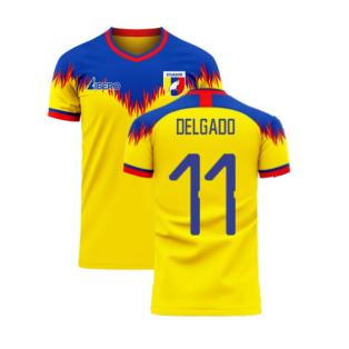 Ecuador 2020-2021 Home Concept Football Kit (Libero) (DELGADO 11)