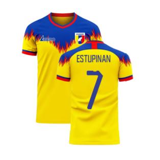 Ecuador 2020-2021 Home Concept Football Kit (Libero) (ESTUPINAN 7)