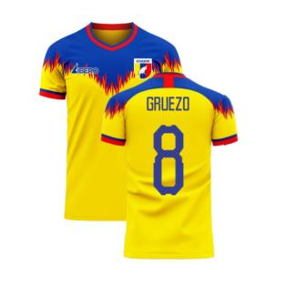 Ecuador 2020-2021 Home Concept Football Kit (Libero) (GRUEZO 8)
