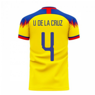 Ecuador 2020-2021 Home Concept Football Kit (Libero) (U. DE LA CRUZ 4)
