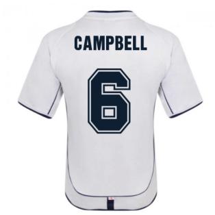 England 2002 Retro Football Shirt (Campbell 6)