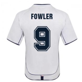 England 2002 Retro Football Shirt (Fowler 9)